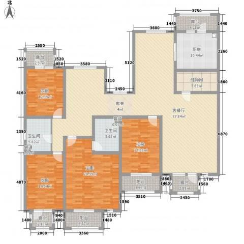 利源帝景4室1厅2卫1厨237.00㎡户型图