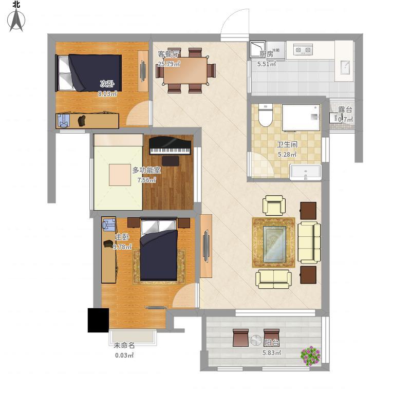 两房两厅一厨一卫