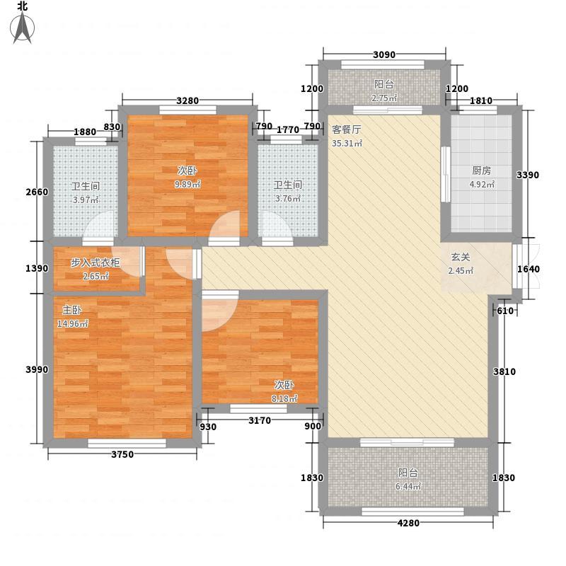 建业桂园135.00㎡户型