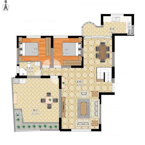 金星家园2室1厅1卫1厨133.00㎡户型图