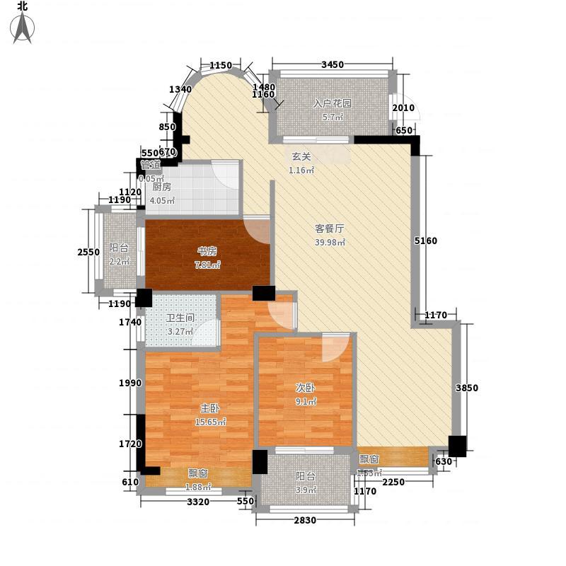 天和国际公馆13.35㎡户型4室2厅2卫1厨