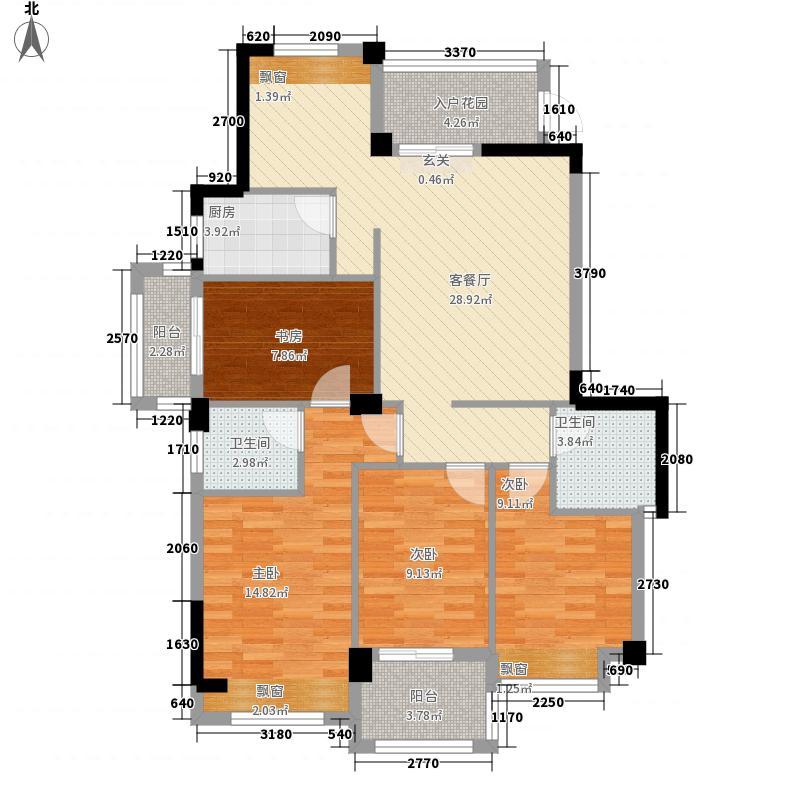 天和国际公馆13.26㎡户型4室2厅2卫1厨