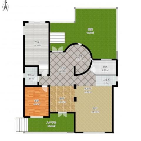 团泊湖庭院1室1厅1卫1厨257.00㎡户型图