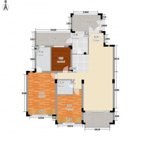 中国铁建领秀城3室1厅2卫0厨174.30㎡户型图