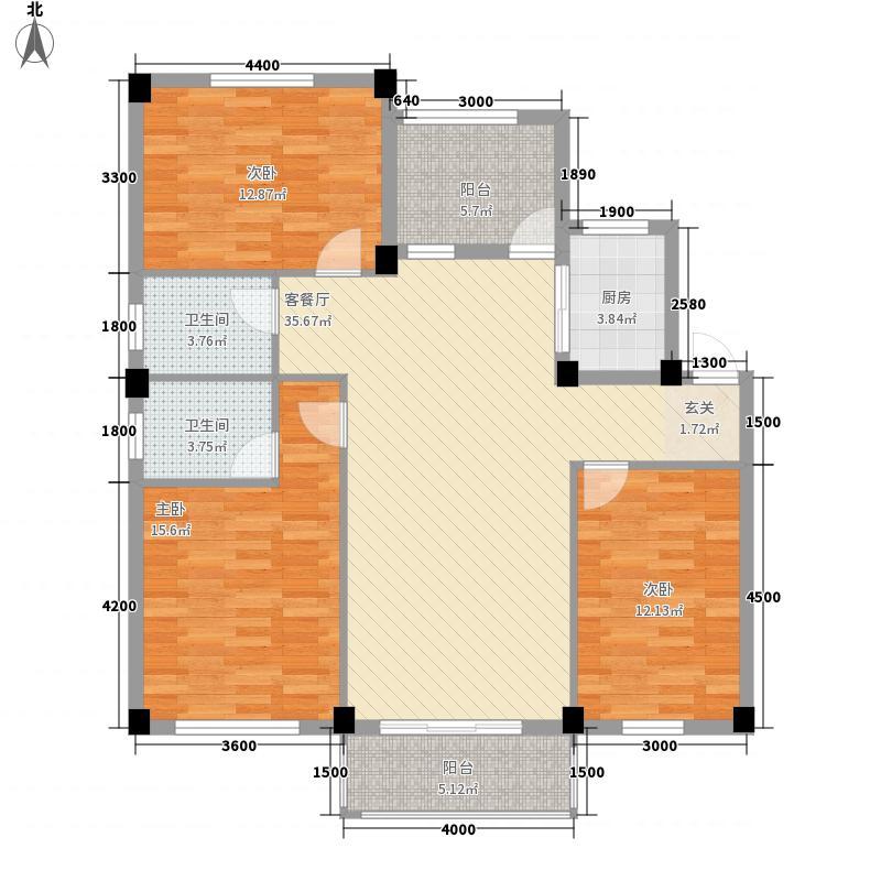温泉・都市华庭117.00㎡2号楼户型
