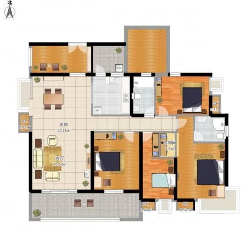 明景・江南世家2室1厅2卫1厨219.00㎡户型图