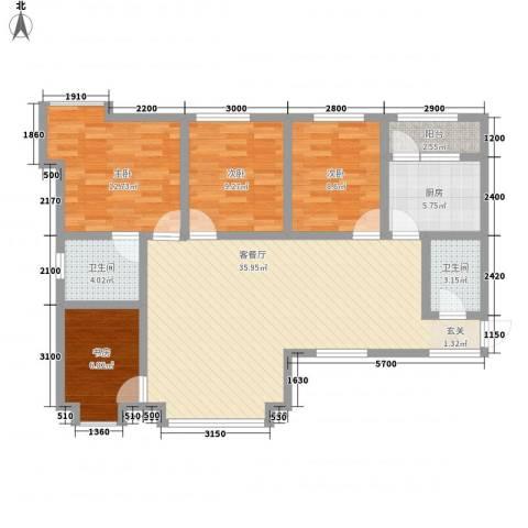 阳光曼哈顿4室1厅2卫1厨102.75㎡户型图