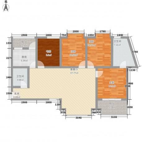 阳光曼哈顿4室1厅2卫1厨118.94㎡户型图