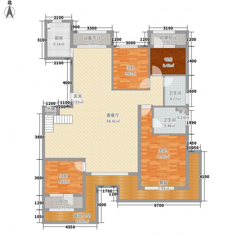 国悦府681153.19㎡0608洋房-户型4室2厅2卫1厨
