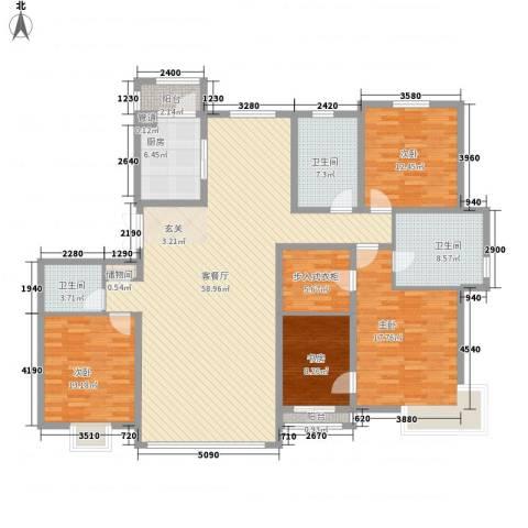 水墨庭院4室1厅3卫1厨207.00㎡户型图
