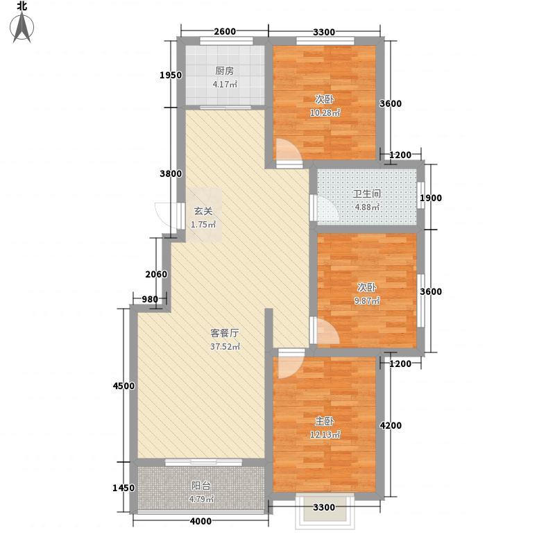 缔景城沙河114.00㎡单页3_副本户型3室2厅1卫