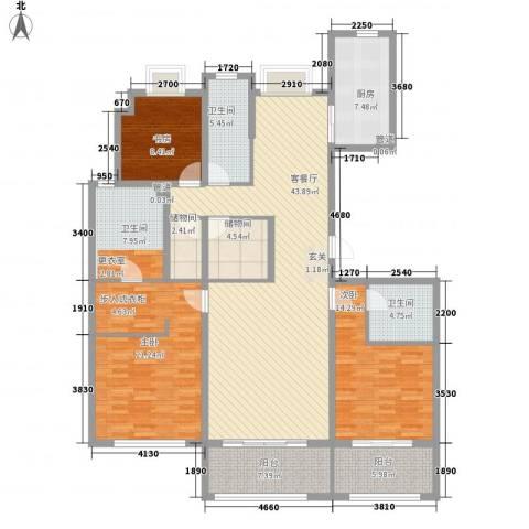 大家之江悦3室1厅3卫1厨191.00㎡户型图
