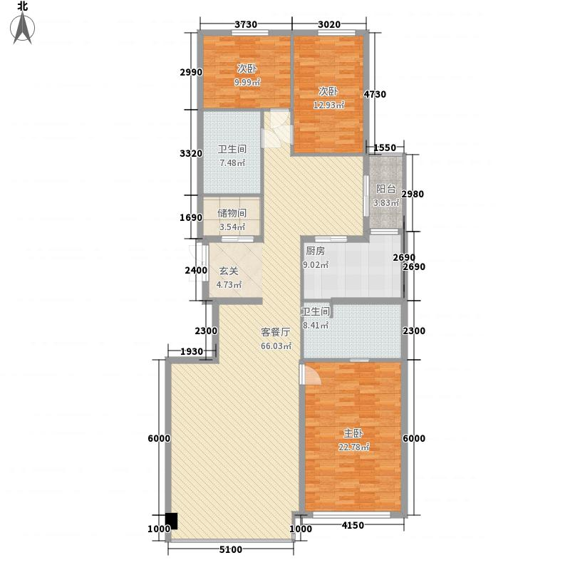 沿海国际中心218.00㎡3号楼G户型3室2厅2卫1厨