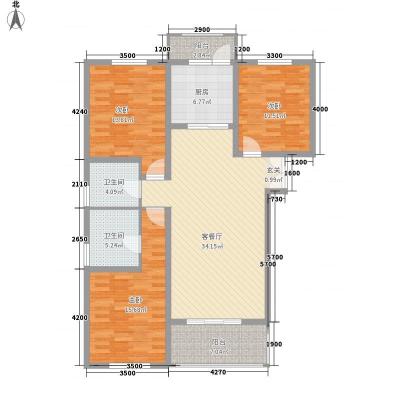 缔景城沙河136.82㎡缔景城户型3室2厅2卫