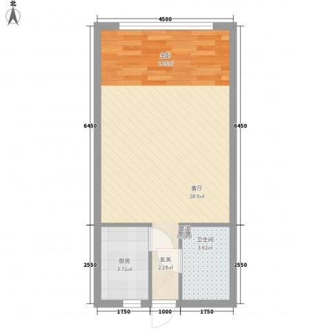 祥瑞家园1厅1卫1厨36.28㎡户型图