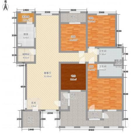 滨江壹号4室1厅2卫1厨172.59㎡户型图