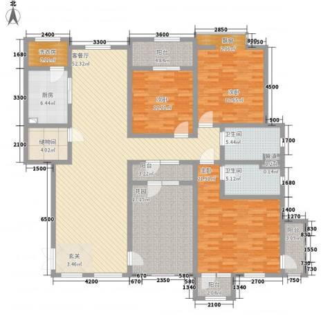 滨江壹号3室1厅2卫1厨158.89㎡户型图