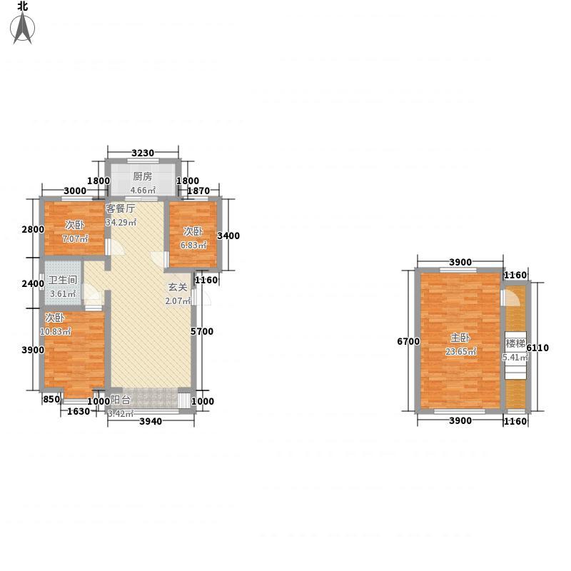东方嘉苑126.00㎡复式户型4室2厅1卫1厨