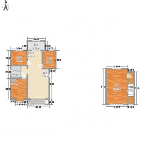 东方嘉苑4室1厅1卫1厨126.00㎡户型图