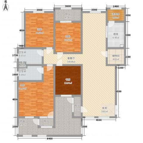 滨江壹号4室1厅2卫1厨168.86㎡户型图