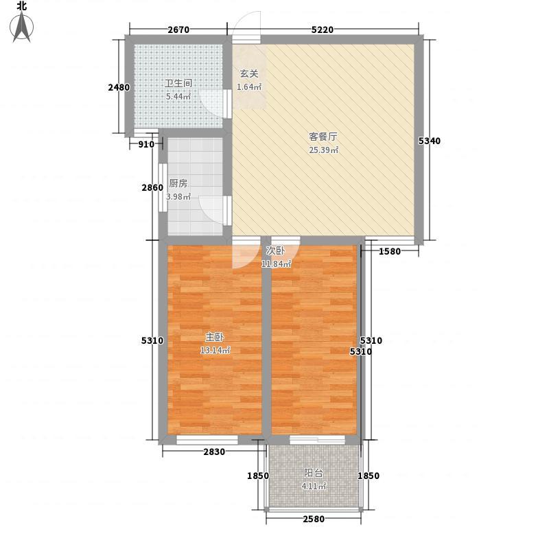 华珍国际2.00㎡G户型2室1厅1卫1厨