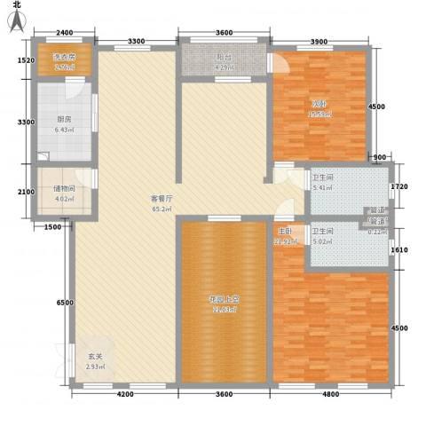 滨江壹号2室1厅2卫1厨287.00㎡户型图