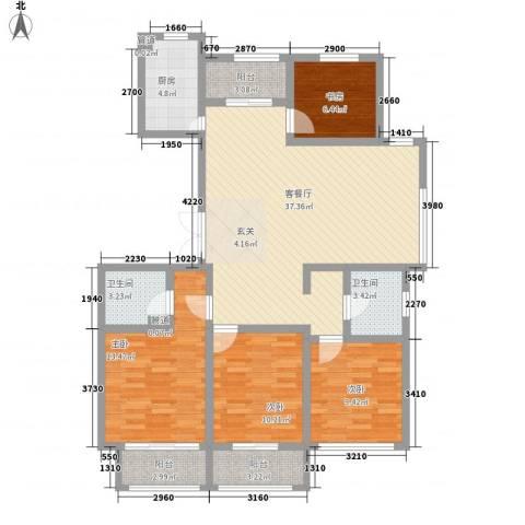 世纪华城4室1厅2卫1厨143.00㎡户型图
