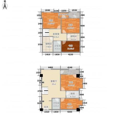 领汇乐城5室1厅2卫1厨148.98㎡户型图