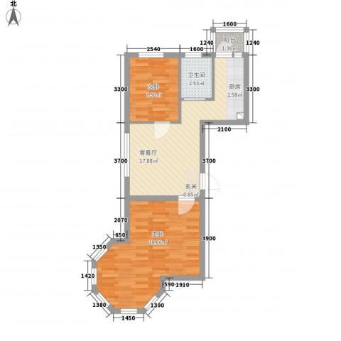 天成雅典2室1厅1卫0厨69.00㎡户型图