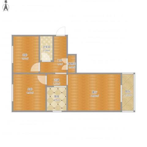 民旺园12--1-501修改后2室1厅1卫1厨65.00㎡户型图