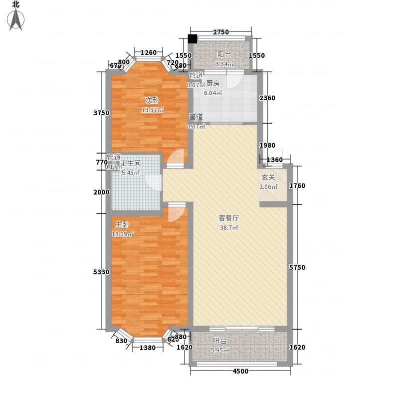 星岛假日6.32㎡A1户型2室2厅1卫1厨