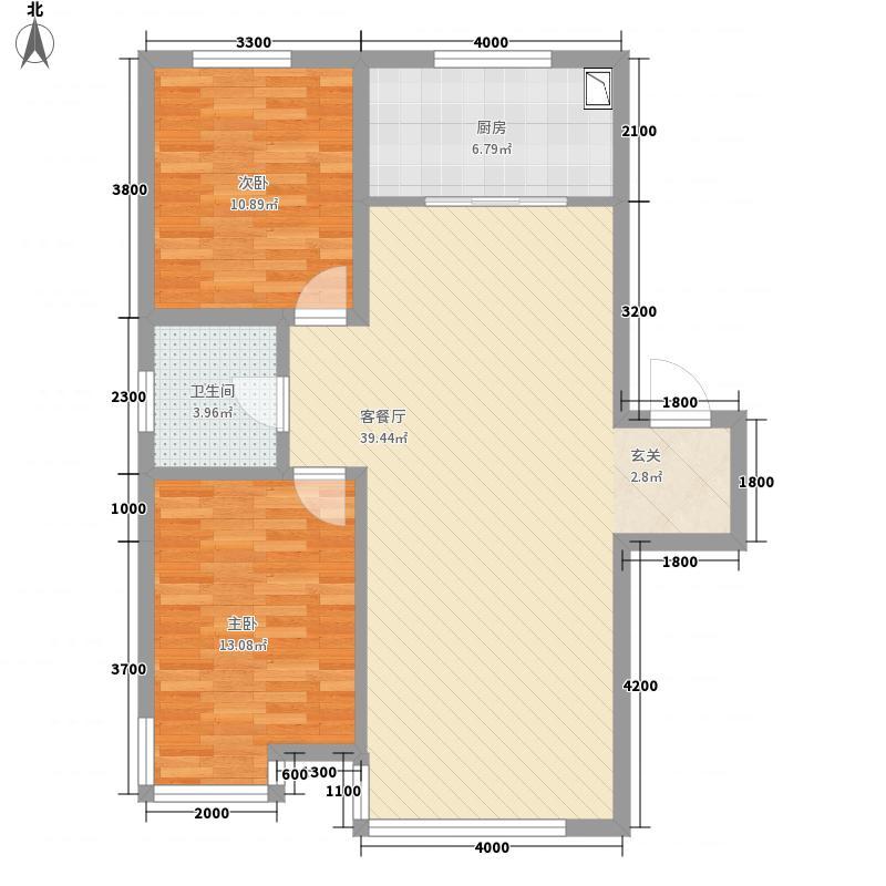 宏运凤凰新城一期13.30㎡1033户型2室2厅1卫1厨