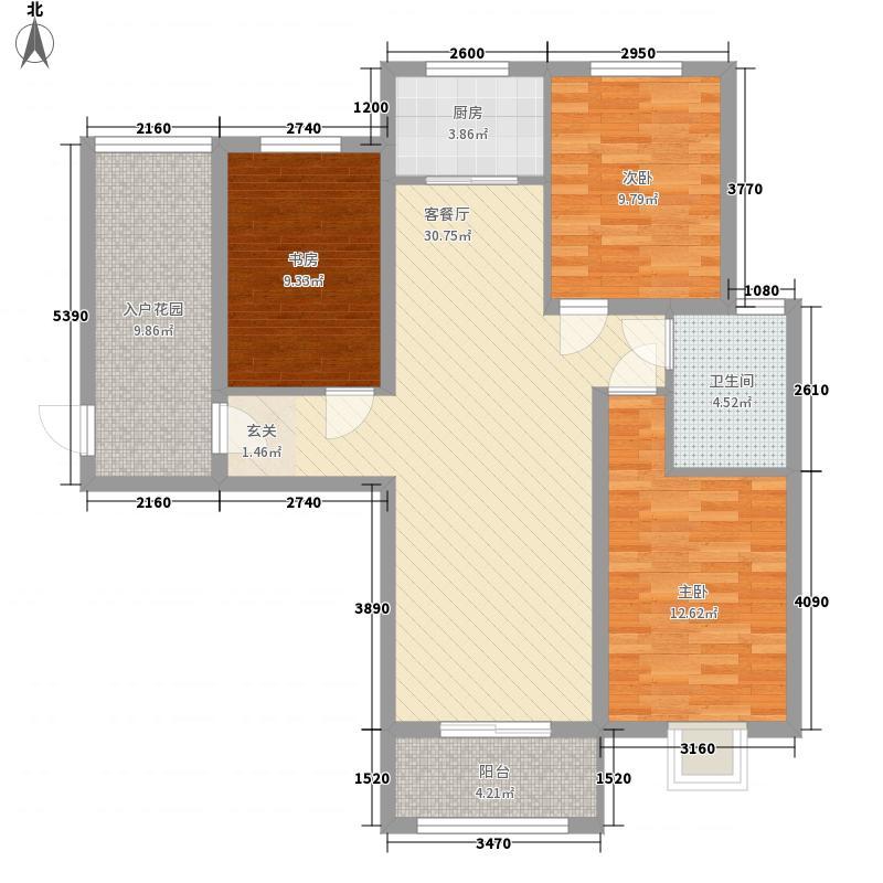 置地・天中第一城北苑122.22㎡C1户型3室2厅1卫1厨