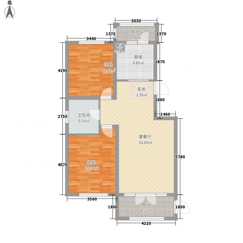 盛和湾117.40㎡A2-西户型2室2厅1卫