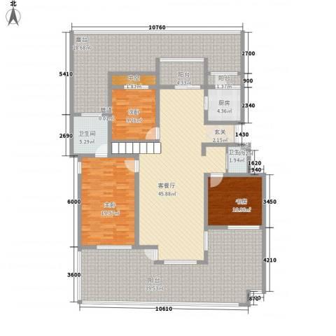 潭泽溪郡3室1厅2卫1厨172.84㎡户型图
