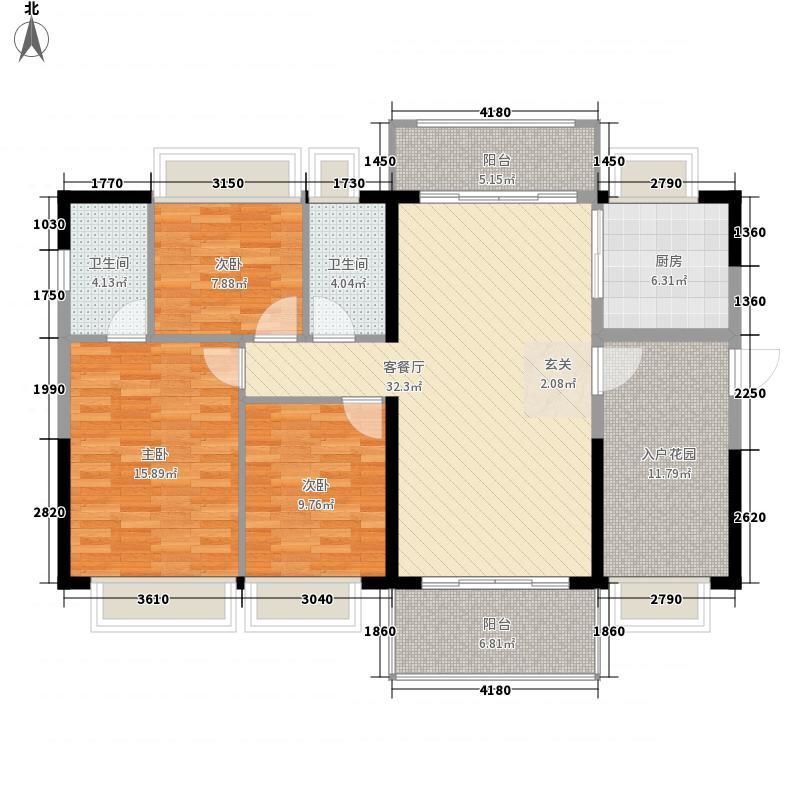 恒福尚城126.00㎡9栋02户型3室2厅2卫1厨
