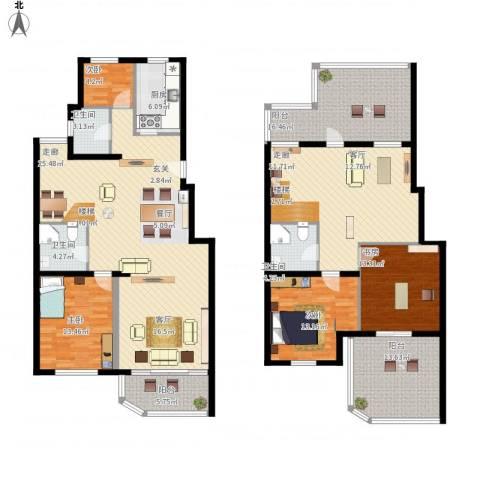 陆家嘴花园4室1厅3卫1厨246.00㎡户型图