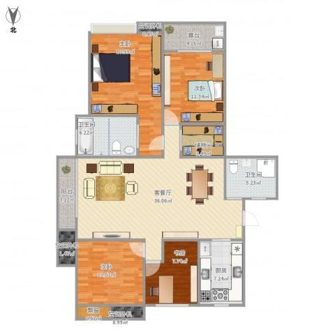栖霞栖庭4室1厅2卫1厨159.00㎡户型图