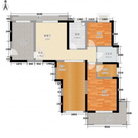 家天下2室1厅1卫1厨98.72㎡户型图