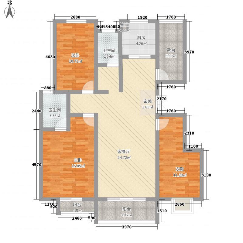 澜湾壹号23142.20㎡A2户型3室2厅2卫1厨