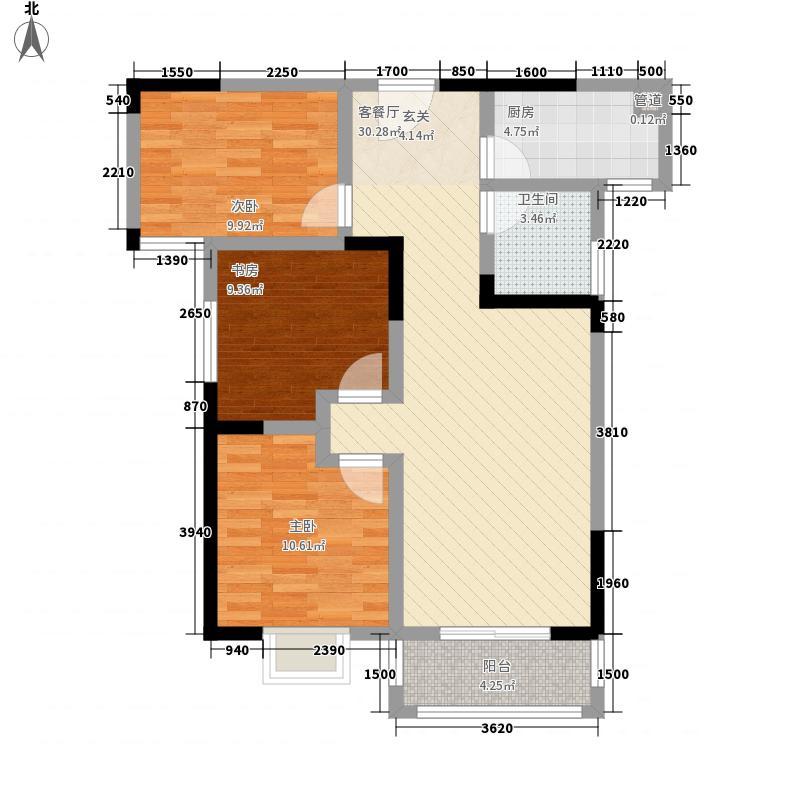 状元府A2/A3户型3室2厅1卫