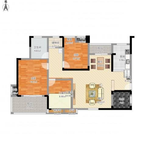英祥春天广场3室1厅1卫1厨144.00㎡户型图