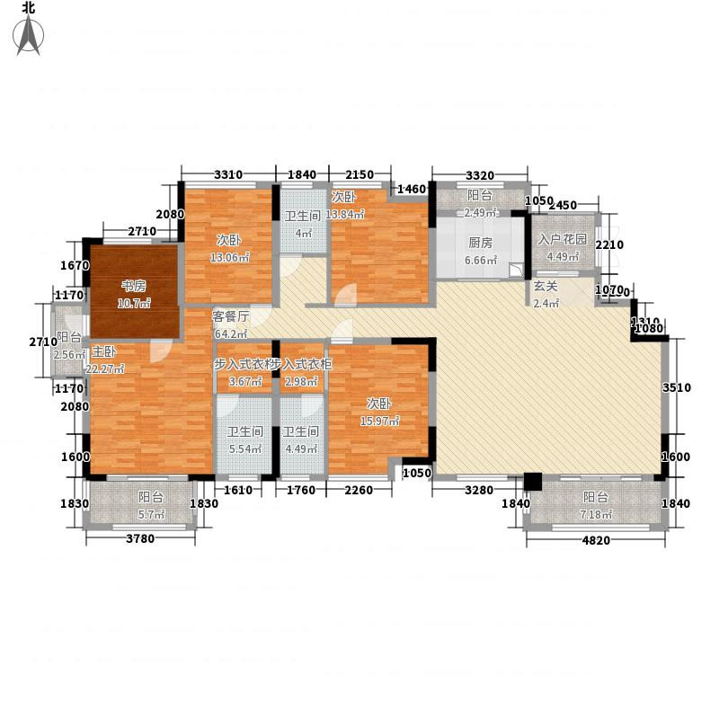 南方梅园2期山湖名都E户型5室2厅3卫1厨