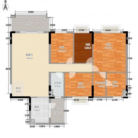 锦绣江南5室1厅1卫1厨166.00㎡户型图