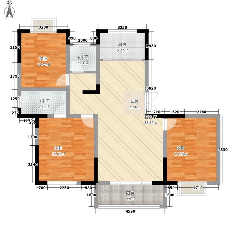 佳合如苑43136.43㎡D4户型3室2厅2卫1厨
