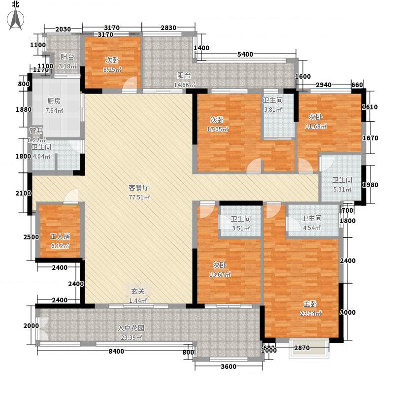 康美・福临门237.00㎡3-A2户型6室2厅5卫2厨