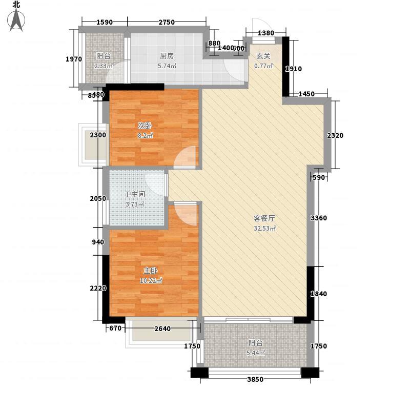 信和・永叔龙湾6.36㎡7-1户型2室2厅1卫