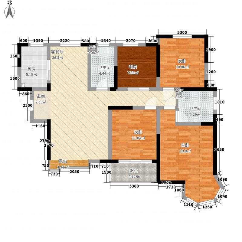 瑞闽・第一城14.00㎡二期C户型4室2厅2卫1厨