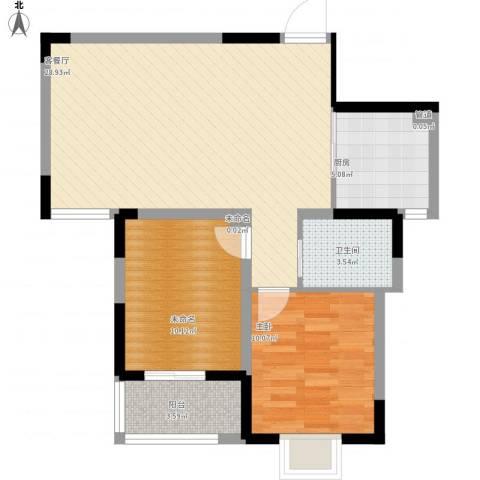 隆昊昊天园1室1厅1卫1厨87.00㎡户型图