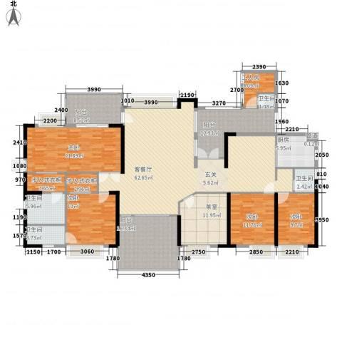 骏景豪庭4室1厅4卫1厨277.00㎡户型图